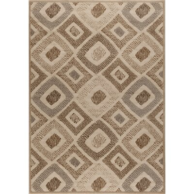 Ceara Zebra Print Brown Area Rug Rug Size: Rectangle 710 x 910