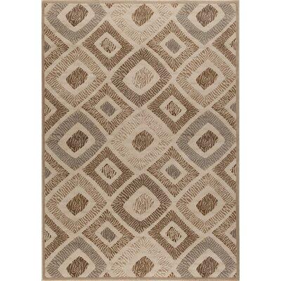 Ceara Zebra Print Brown Area Rug Rug Size: 710 x 910