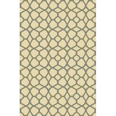 Bridget Beige/Green Area Rug Rug Size: 710 x 910
