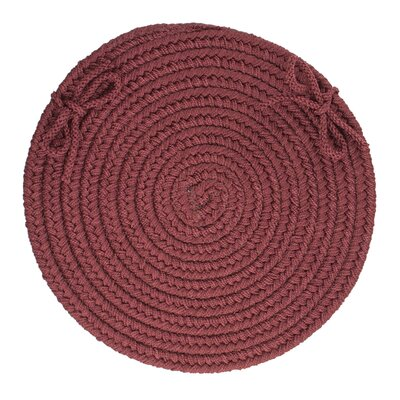 Sophisticated Chair Pad Color: Burgundy