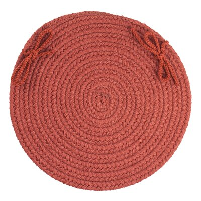 Sophisticated Chair Pad Color: Terra Cotta