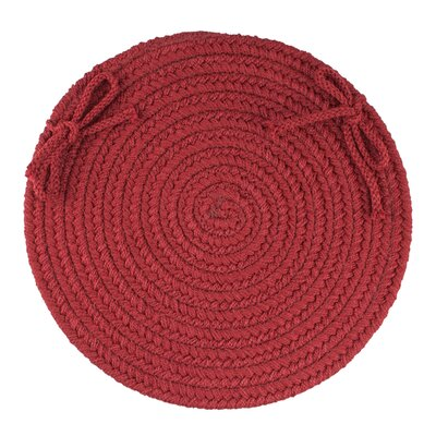 Sophisticated Chair Pad Color: Colonial Red