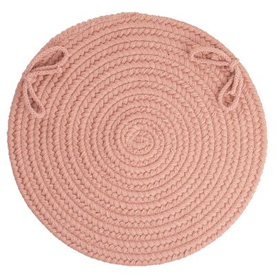 Image of 100% Wool Chair Pad Color: Old Rose