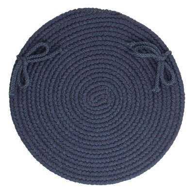 Image of 100% Wool Chair Pad Color: Navy