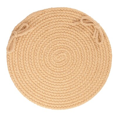 Image of 100% Wool Chair Pad Color: Wheat