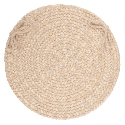 Image of 100% Wool Chair Pad Color: Sand