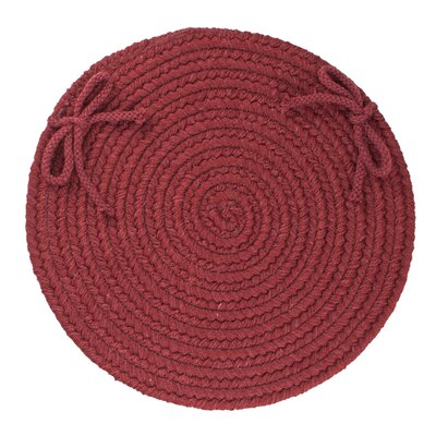 Image of 100% Wool Chair Pad Color: Red Wine
