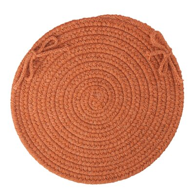 Chanel  Chair Pad Color: Terra Cotta