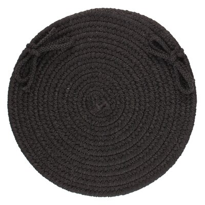 Image of 100% Wool Chair Pad Color: Black
