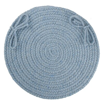 Image of 100% Wool Chair Pad Color: Blue Bonnet