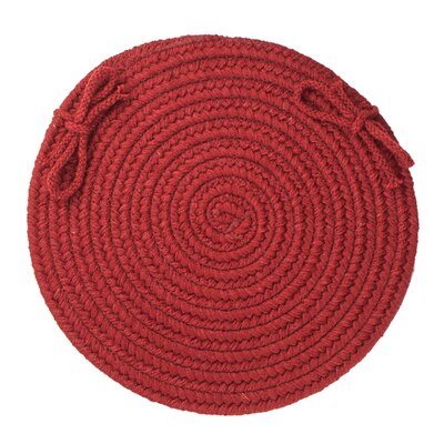 Image of 100% Wool Chair Pad Color: Barn Red