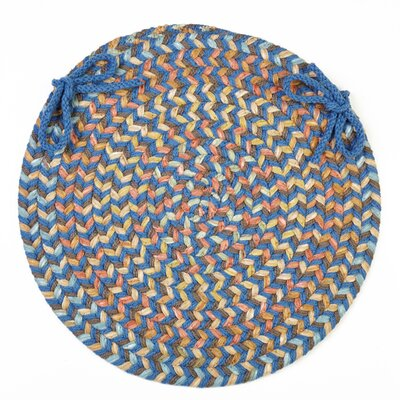 Chanelle  Chair Pad Color: Marina Blue
