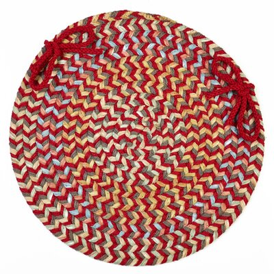 Chanelle  Chair Pad Color: Brilliant Red