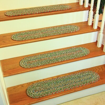 Cornelija Moss/Green Indoor/Outdoor Stair Tread