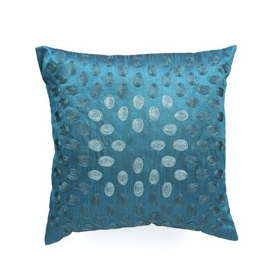Throw Pillow Color: Peacock Blue