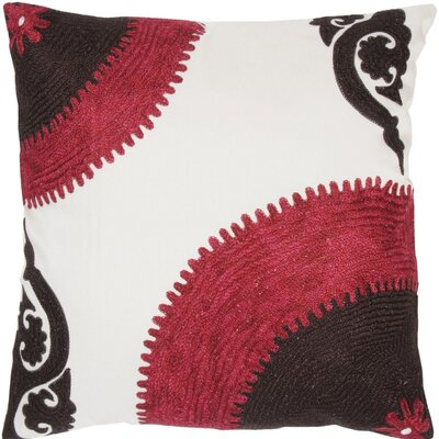 Throw Pillow Color: Purple / Black