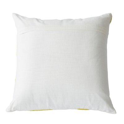 Throw Pillow Color: White / Yellow