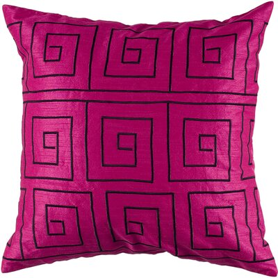 Demia  Throw Pillow Color: Pink / Black