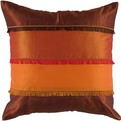 Demie Throw Pillow Color: Orange / Rust