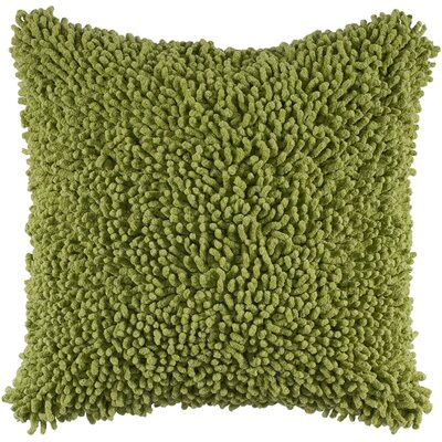 Daysha Shag Cotton Throw Pillow Color: Citrus Green