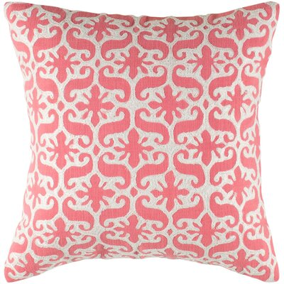 Charisa  Cotton Pillow Cover Color: Pink / White