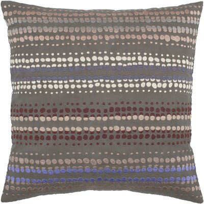 Charlott  Cotton Throw Pillow Color: Brown / Beige