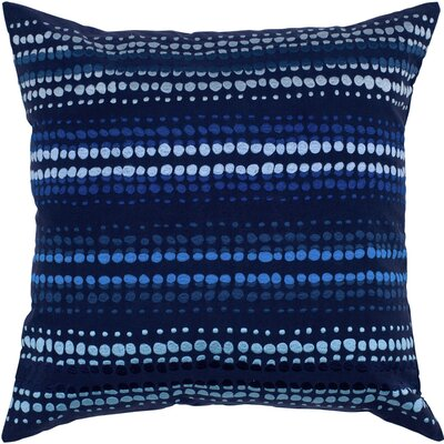 Charlott  Cotton Throw Pillow Color: Indigo Blue / Blue