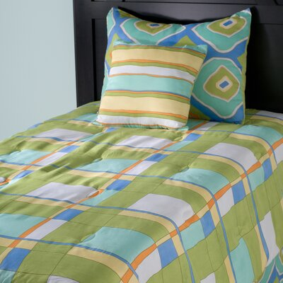 Kids Plaid 3 Piece Comforter Set Size: Full / Queen