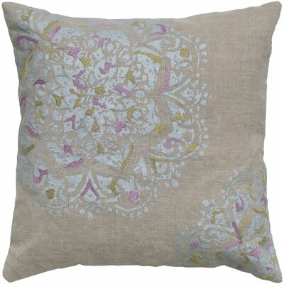 Chesney  Flower Linen Throw Pillow