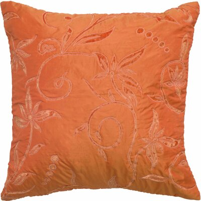 Chesna  Floral Throw Pillow Color: Orange