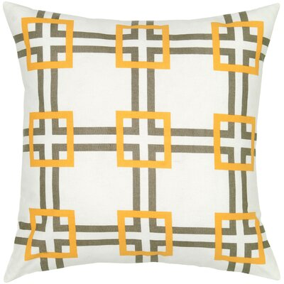 Charise  Cotton Pillow Cover Color: Gray / Yellow