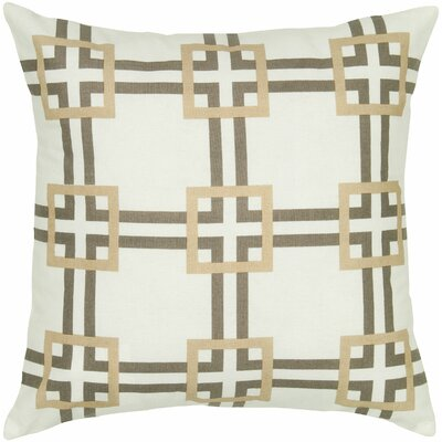Charise Cotton Throw Pillow Color: Gray