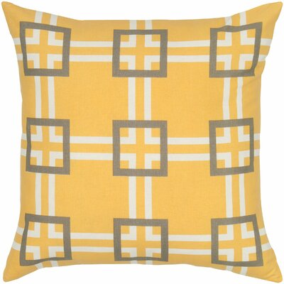 Charise  Cotton Pillow Cover Color: Yellow