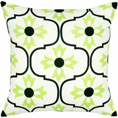 Charisha Cotton Throw Pillow Color: Black