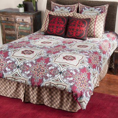 Diana 3 Piece Comforter Set Size: King