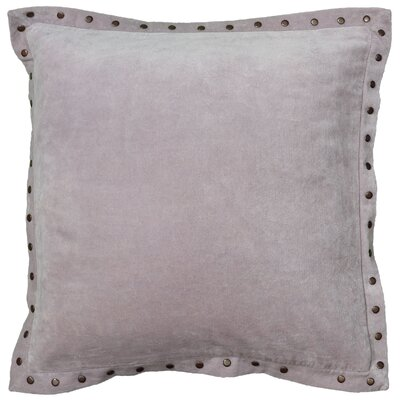 Dahlina Velvet Throw Pillow Color: Light Purple