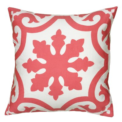 Dahlya  Pillow Cover Color: Coral