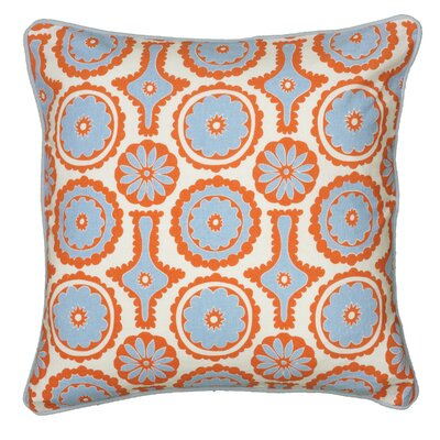 Dahra  Pillow Cover Color: Orange / Blue