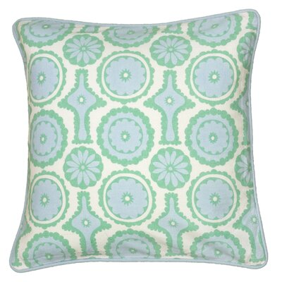 Dahra  Pillow Cover Color: Blue / Green