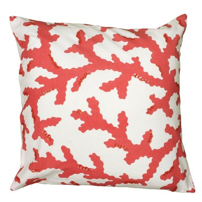 Daibhidha Throw Pillow Color: Coral