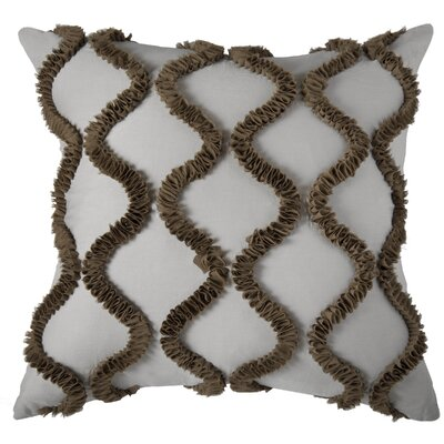 Dakota Throw Pillow Color: Silver / Brown