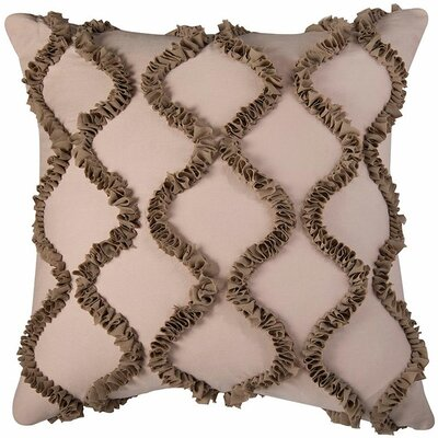 Dakota Throw Pillow Color: Ivory / Brown