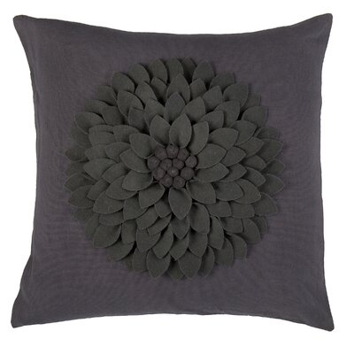 Dakote  Pillow Cover Color: Dark Gray