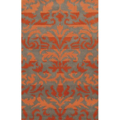 Adiva  Hand-Tufted Red/Orange Area Rug Rug Size: Round 8