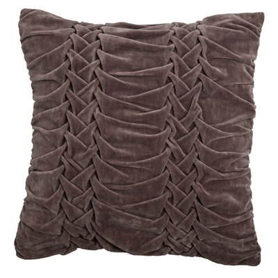 Chasidy 100% Cotton Throw Pillow Color: Dark Taupe