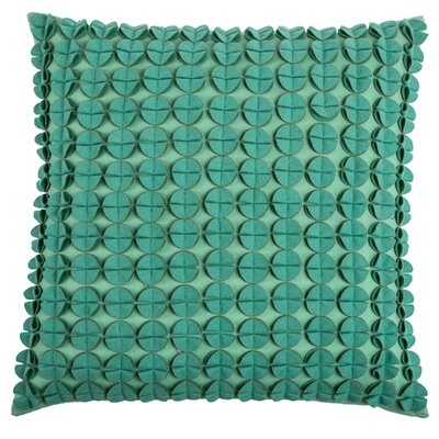 Denice Throw Pillow Color: Aqua