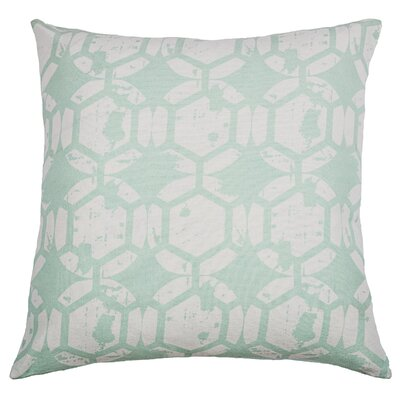 Chasitti  Cotton Throw Pillow Color: Aqua