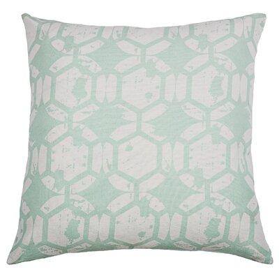 Chasitti  Cotton Throw Pillow Color: Aqua