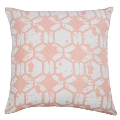 Chasitti  Cotton Throw Pillow Color: Pink
