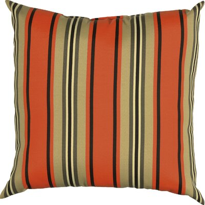 Clarinda Indoor/Outdoor Throw Pillow Color: Red Pepper